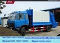 Cubo de la basura compactador, los camiones de basura compactadores de japón, los residuos de basura de camiones