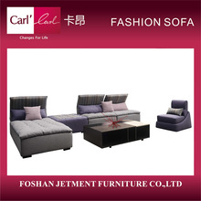 China manufacturer discount goose feather white fabric sofas