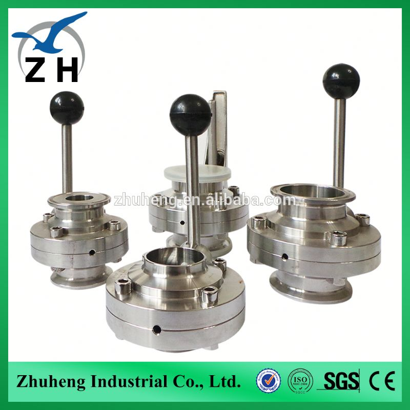 High Quality Stainless Steel Sanitary Butterfly Valve