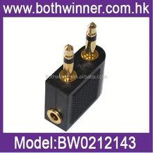 WQ099 new airplane/earphone jack audio adapter