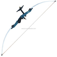 2015 hottest selling longbow straight bow 56.3 inch hunting recurve bow shooting range 42 yard