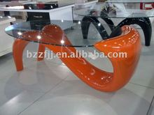 glossy glass coffee table /sex table /colorful table