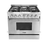 Professional 36 inch 6 burner gas range parts imported from U.S.