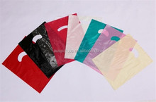New latest popular PE shopping gifts die cut punch handle bag