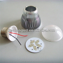 2014 wholesale 2 years warranty milky/clear cover E27/E14/B22 base All heat sink 5w led bulb lighting parts