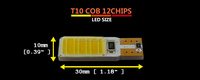 Super White T10 12Chips COB Canbus ErrorFree Wedge LED Car Interior Roof Dome Map Side Turn Singal Light Reverse Backup Lamp