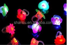 cheap various rubber party holiday colored flashing light crown ring toy
