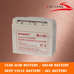 Rechargeable 12v 17ah solar storage battery for solar system