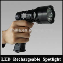 540Lm,Aluminium rechargeable lithium 10W Cree Led handheld hunting spotlight JG-T61-LA
