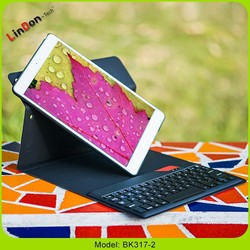Fashion Design Super Slim 360 Degree Rotate Detachable Wireless Bluetooth Keyboard Leather Case For iPad Air BK317-2