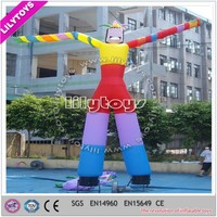 2015 hot selling tall multicolor 6H mini inflatable air dancers for commercial