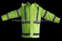 safety rain poncho,reflector raincoat,pvc polyester rain coat