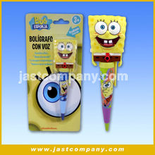 Sponge Bob Talking Pen With Mouth Moving, New Design Smart Talking Pen