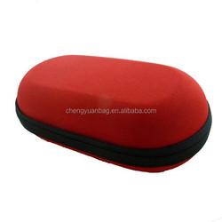 Grid cloth eyeglasses case with EVA