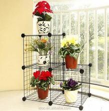 2015 hot selling decorative pot sheet metal rack garden flower shelf rack