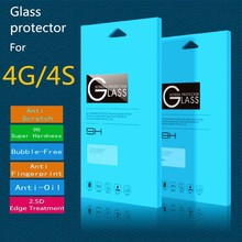 "Tempered Glass Screen Protector For iPhone 4 (0.2mm 3.5"" Straight Edge 9H HD Clear)"
