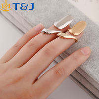 >>>New Arrival Women Brand Creative Jewelry Gold/Silver Tone Alloy Cute Fashion Long Finger Tip Nail Rings/