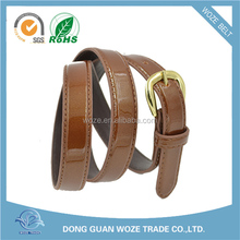 2015 New Design Brown PU Leather belt women