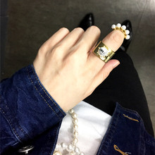 ... korean vintage perle matte gold fingerring designs für frauen a1003