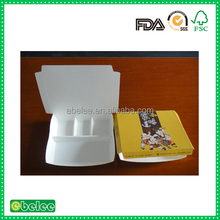 printed food paper box with 4 compartment