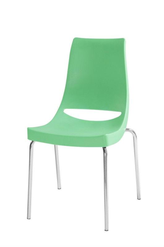 pl sticas sillas apilables con patas met licas cromadas On sillas plasticas apilables