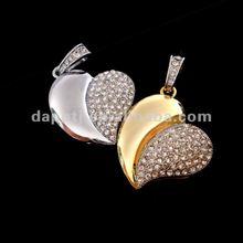 Hot saling heart shape jewelry usb flash drives 2015