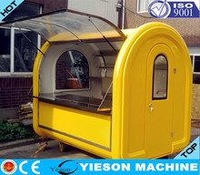 colourful designed electric mobile food car/mobile food cart/fast food car for sale