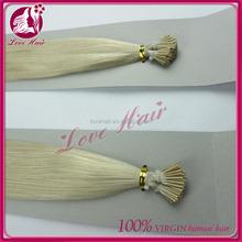Russia hair 100% human hair keratin i tip/u tip/v tip hair i-tip hair extension