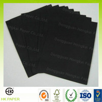 C1S/C2S printable black cardboard for book binding/notebook cove