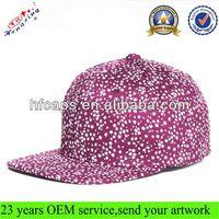 Wholesale Flat Bill Snap Back Hat/6 Panel Cotton Plain Snapback