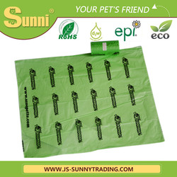 Factory directly sell biodegradable custom printed dog poop bags