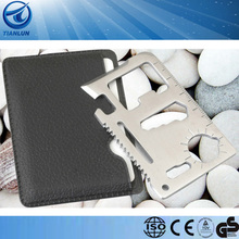 11 Tools In One Multi purpose Card Black leather bag packaging