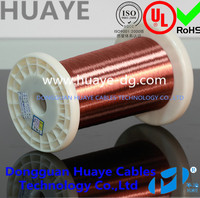 Hot sale AWG 155 class polyurethane Self-bonding solderable electrical speaker coils cable 0.10mm enameled copper wire