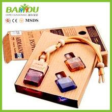 2015 hot new products car perfume gift set, car air freshener
