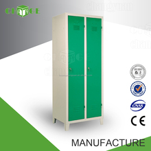 Steel furniture laminate double door wardrobe design for bedroom