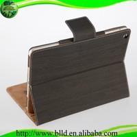Wholesale Wood grain design flip leather case cover for ipad 6