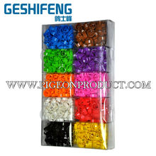 Numbering 1 to 100 plastic clip bird rings, pigeon rings for sale