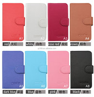 Small MOQ Wholesale Lychee Grain Wallet Flip Leather Cover Case for Wiko Cink Five