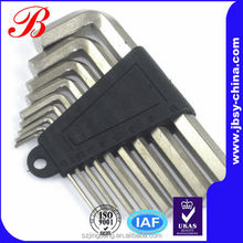 Hex wrench & alloy key set with 9 pcs