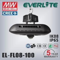 100W die-casting aluminum alloy housing 90-305VAC 5 years warranty IP65 cob led high bay light