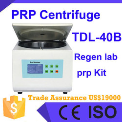 Table Top Low Speed Regen Laboratory PRP Centrifuge speed 3000rpm with 10 minutes