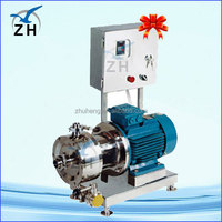 stainless vat cream emulsifying machine with homogenizer vacuum inline high-shear emulsification pump