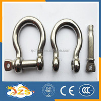 SIZE 50MM stainless steel 304 european BOW shape shackle lifting shackle