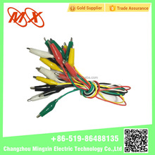 2015 battery clips alligator clips crocodile clips colorful 50 cm cable wire length measuring retractable device with terminals