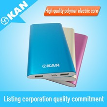 portable mobilephone power bank 8000mAh two output port for all smart phone