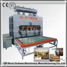 Two side short cycle lamination hot press for particle board press