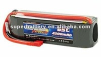 CE approved OEM 18.5V 65C 4200mAh lithium polymer cells pack Sky king rc helicopter battery