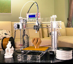 Cheaper 3d printer reprap prusa i3 3d printers with two rolls filament free and VCD