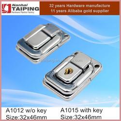 Metal Iron chromed plated wood box latch, jewelry box lock