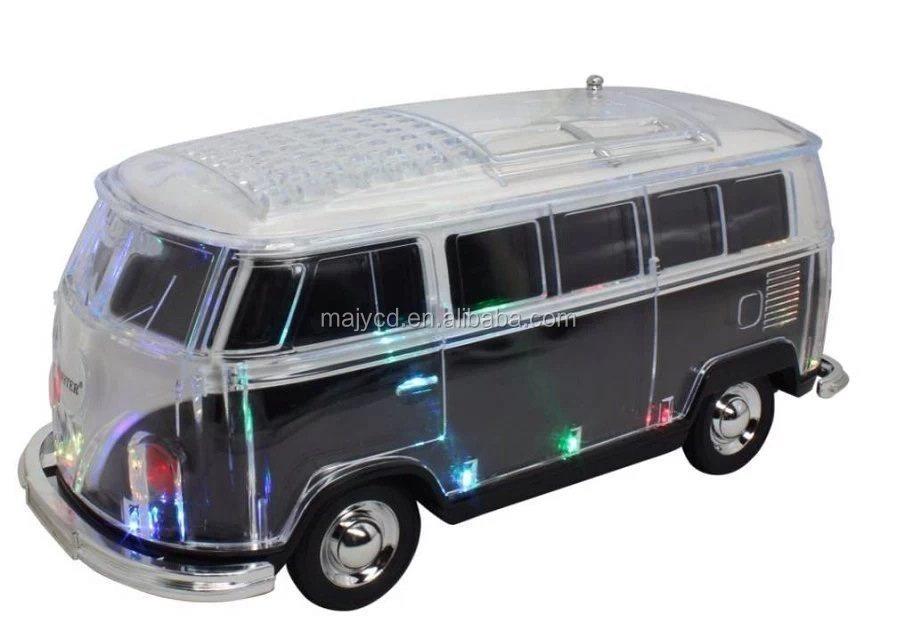 super bass vw bus shape car radio speaker usb card sound. Black Bedroom Furniture Sets. Home Design Ideas